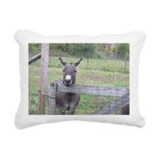 Miniature Donkey II Rectangular Canvas Pillow