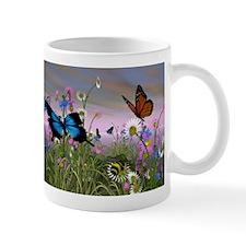 Filed Of Butterflies Mugs