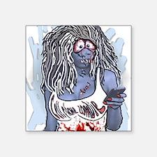 "zombie Square Sticker 3"" x 3"""