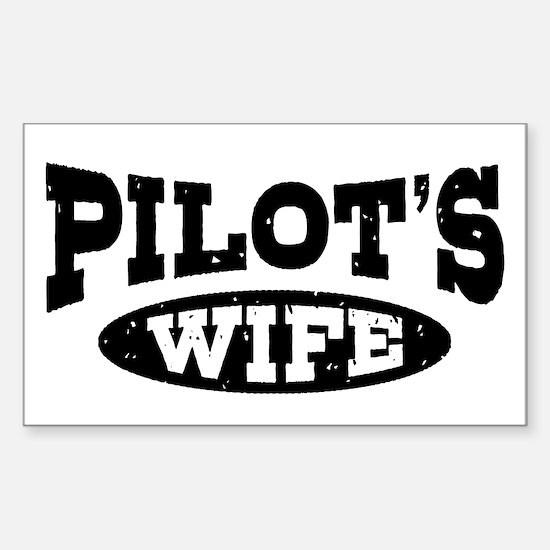 Pilot's Wife Sticker (Rectangle)