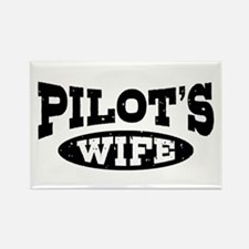 Pilot's Wife Rectangle Magnet