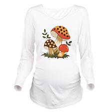 Merry Mushroom Long Sleeve Maternity T-Shirt