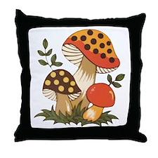 Merry Mushroom Throw Pillow