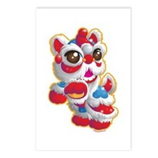 Cute Lion Dancer Postcards (Package of 8)