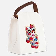 Cute Lion Dancer Canvas Lunch Bag