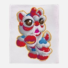 Cute Lion Dancer Throw Blanket