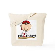 Baseball 2nd Birthday(brown) Tote Bag