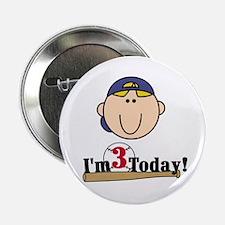 Baseball 3rd Birthday(blond) Button
