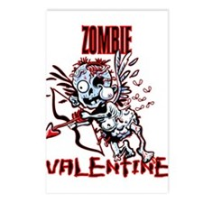 Zombie Valentine Postcards (package Of 8)