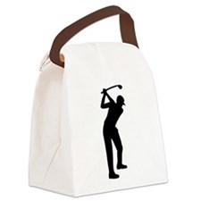 Golf player Canvas Lunch Bag