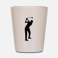 Golf player Shot Glass