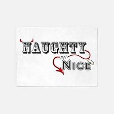 Naughty not Nice 5'x7'Area Rug