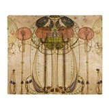 Art deco blanket Fleece Blankets