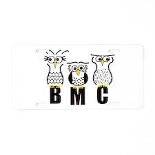 BMC Owls Aluminum License Plate