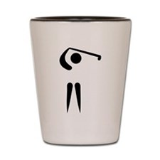 Golf player icon Shot Glass