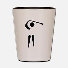 Golf player icon Shot Glass