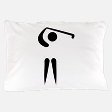 Golf player icon Pillow Case