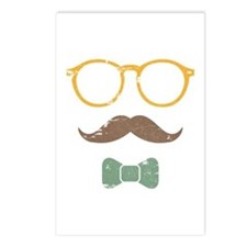Mustache Face w/ Bowtie Postcards (Package of 8)