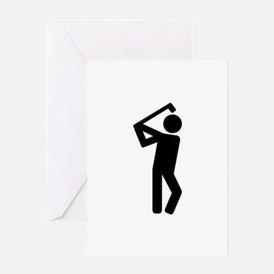 Golf player Greeting Card