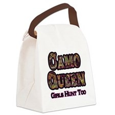 Camo Queen- Girls Hunt Too Pink Canvas Lunch Bag