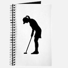 Golf woman girl Journal