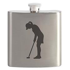 Golf woman girl Flask