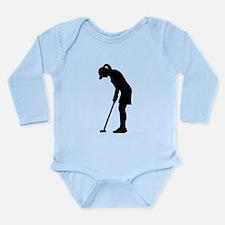Golf woman girl Long Sleeve Infant Bodysuit