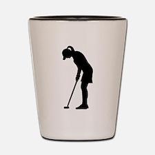 Golf woman girl Shot Glass