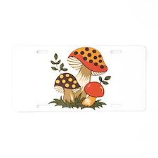 Merry Mushroom Aluminum License Plate