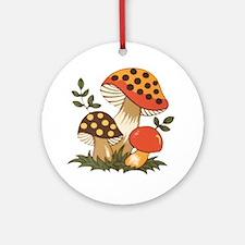 Merry Mushroom Ornament (Round)