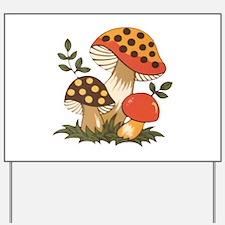 Merry Mushroom Yard Sign