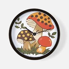 Merry Mushroom Wall Clock