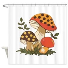Merry Mushroom Shower Curtain