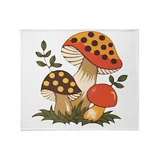 Merry Mushroom Throw Blanket