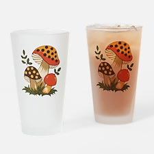 Merry Mushroom Drinking Glass