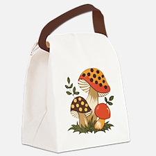 Merry Mushroom Canvas Lunch Bag