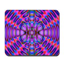 Diffraction Pattern Purple Mousepad