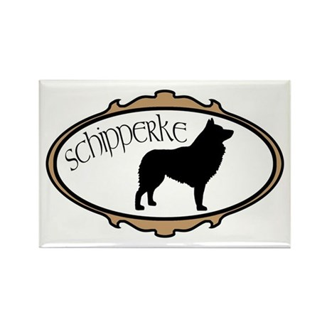schipperke dog Rectangle Magnet (10 pack)