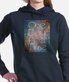 One Day at a Time Abstract Art Hooded Sweatshirt