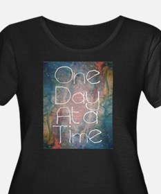 One Day at a Time Abstract Art Plus Size T-Shirt