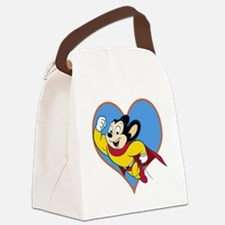 I Love Mighty Mouse Canvas Lunch Bag