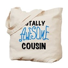 Blue Awesome Cousin Tote Bag