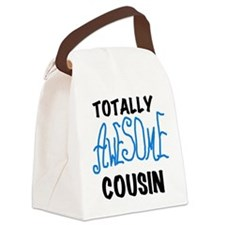 Blue Awesome Cousin Canvas Lunch Bag