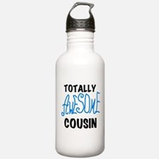Blue Awesome Cousin Water Bottle