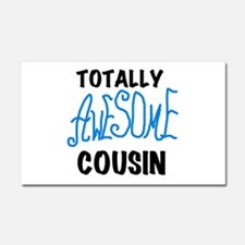 Blue Awesome Cousin Car Magnet 20 x 12