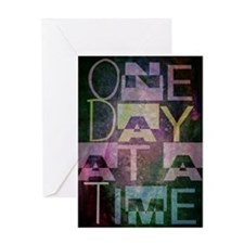 One Day at a Time Abstract Geometric Art Greeting
