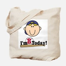 Baseball 8th Birthday(blond) Tote Bag