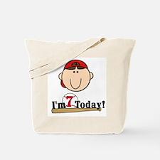 Baseball 7th Birthday(brown) Tote Bag
