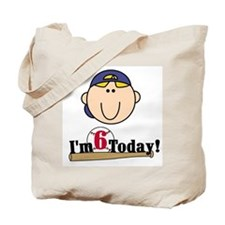 Baseball 6th Birthday(blond) Tote Bag