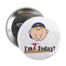 Baseball 7th Birthday(blond) Button